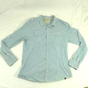Marc Ecko Cut & sew western pearl snap button down